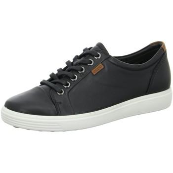 Schuhe Damen Sneaker Low Ecco Schnuerschuhe 430003/01001 schwarz