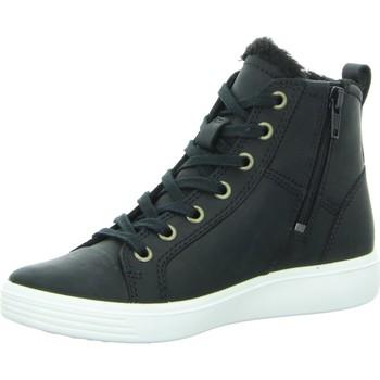 Schuhe Jungen Sneaker High Ecco High  S7 TEEN 780073/02001 schwarz