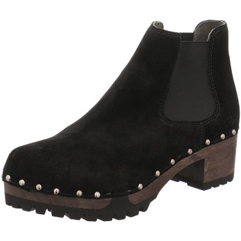 Schuhe Damen Stiefel Softclox Stiefeletten Isabelle Bailey Chelsea schwNu S3358 schwarz