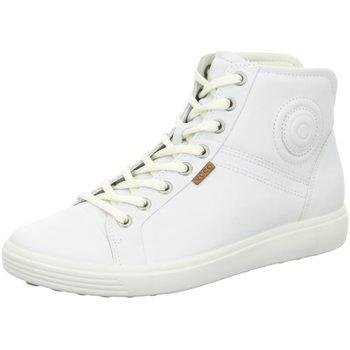 Schuhe Damen Sneaker Low Ecco Schnuerschuhe 430023/01007 weiß