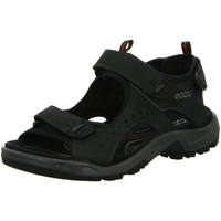 Schuhe Herren Sportliche Sandalen Ecco Offene Sandalette OFFROAD 822044 12001 schwarz