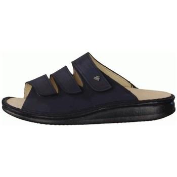 Schuhe Damen Pantoffel Finn Comfort Pantoletten Korfu 1508 046046 1508046046 blau