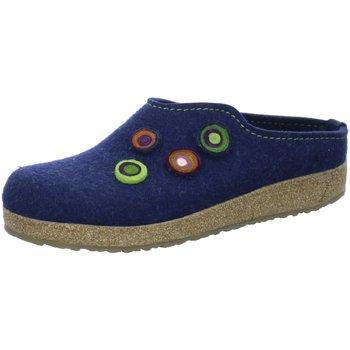 Schuhe Damen Hausschuhe Haflinger Grizzly Kanon 731023-79 blau