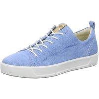 Schuhe Damen Sneaker Low Ecco Schnuerschuhe 440503/01321 blau