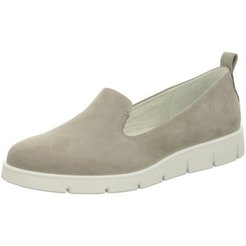 Schuhe Damen Ballerinas Ecco Slipper Bella Warm grau
