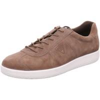 Schuhe Herren Sneaker Low Ecco Schnuerschuhe Schnürhalbschuh  SOFT 1 MEN'S 400514 02192 braun