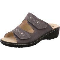 Schuhe Damen Pantoffel Hickersberger Pantoletten 2175,6200 grau