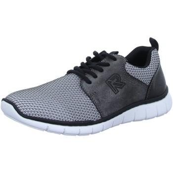 Schuhe Herren Sneaker Low Rieker Schnuerschuhe H.Schnürer B874041 grau