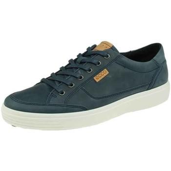 Schuhe Herren Sneaker Low Ecco Schnuerschuhe 430954-02038-Soft-7 blau