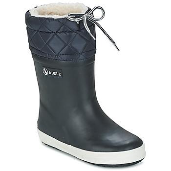 Schuhe Kinder Schneestiefel Aigle GIBOULEE Marine / Weiss