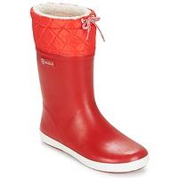 Schuhe Kinder Schneestiefel Aigle GIBOULEE Rot / Weiss