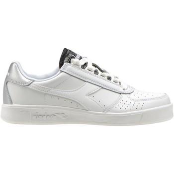 Schuhe Damen Sneaker Low Diadora C0516 B.ELITE WN weiß silber weiß silber Schuhe Frau Turnschuhe Bianco
