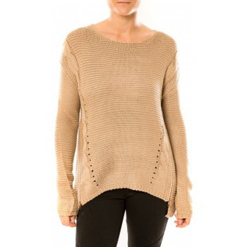 Kleidung Damen Pullover By La Vitrine Pull Laetitia MEM K078 Taupe Braun