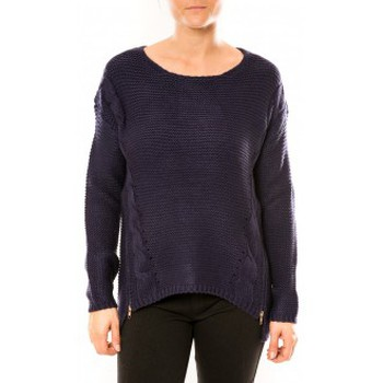 Kleidung Damen Pullover By La Vitrine Pull Laetitia MEM K078 Bleu Blau