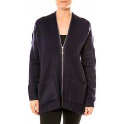 Kleidung Damen Tuniken Tcqb Gilet Lely Wood L586 Bleu Blau