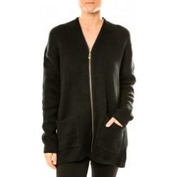 Kleidung Damen Strickjacken Tcqb Gilet Lely Wood L586 Noir Schwarz