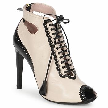 Schuhe Damen Ankle Boots Moschino MA1602A Beige