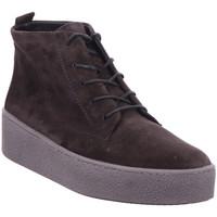Schuhe Damen Boots Paul Green Schnürstiefelette GRAU 05