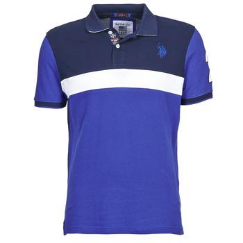 Kleidung Herren Polohemden U.S Polo Assn. REMY Marine / Weiss