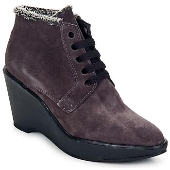 Schuhe Damen Ankle Boots Parallèle LAHO Pflaume
