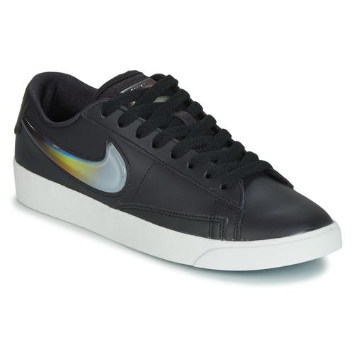 Schuhe Damen Sneaker Low Nike BLAZER LOW LX W Schwarz / Silbern